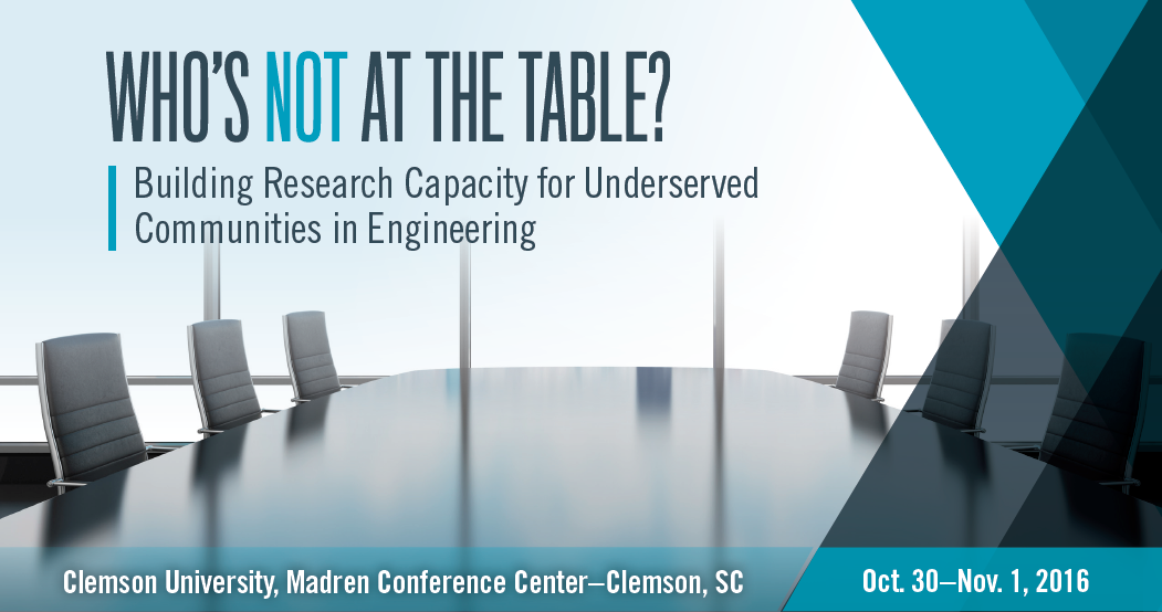 Image of a table surrounded by empty chairs to represent questioning Who's Not At The Table?